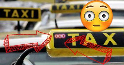 Wetten, das ist dir noch nie an einem Taxi aufgefallen?