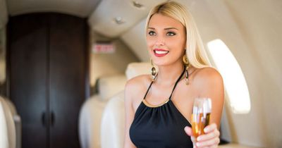 Eine Blondine im Flugzeug...