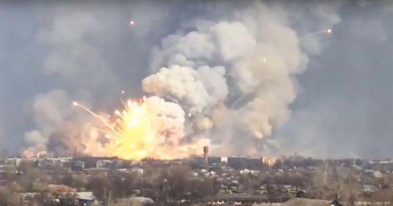 Brand im Munitionsdepot: 25.000 Menschen evakuiert!
