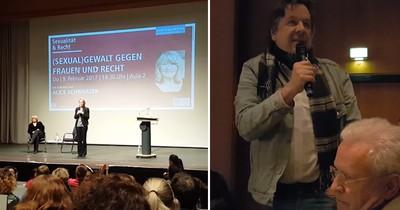 Alice Schwarzer macht Kachelmann in Vortrag fertig - Er steht auf und kontert