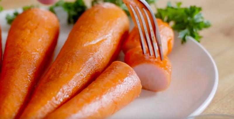 Dieses Bild zeigt Fleisch, das aussieht wie eine Karotte.