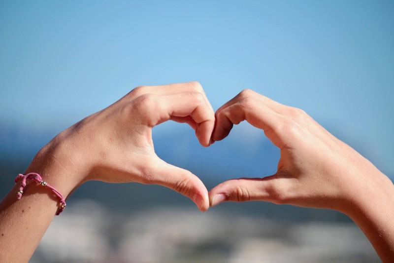 Hände Herz, liebe, Pärchen