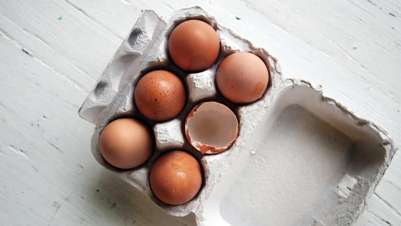 Eier, die viele Proteine enthalten