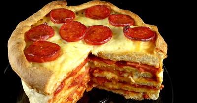 Pizza-Kuchen: Ein Traum für jeden, der Pizza liebt