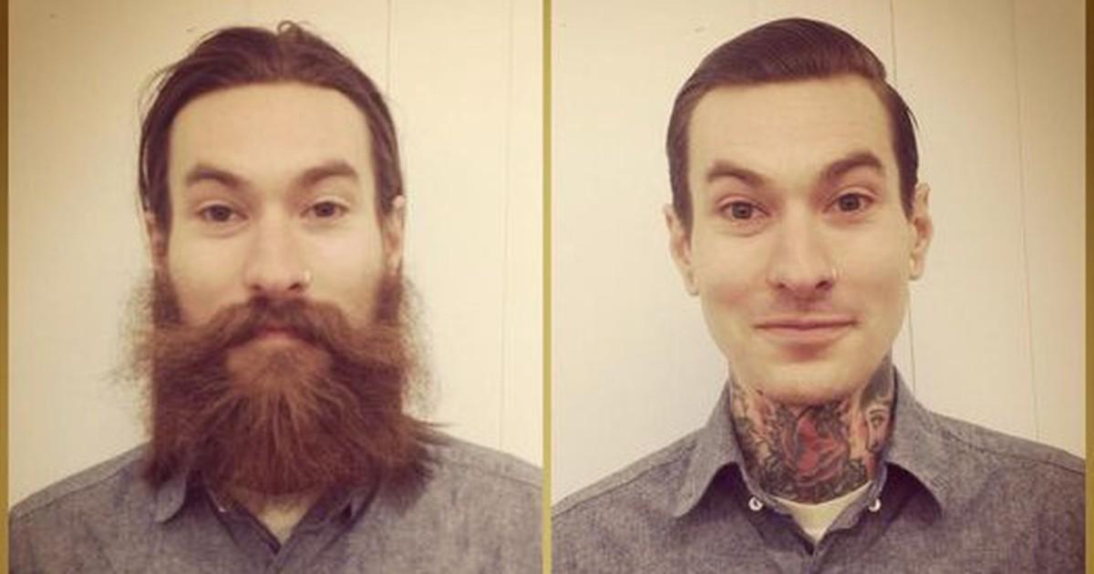 16 Männer mit und ohne Bart