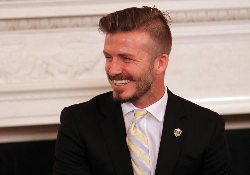 4. David Beckham macht es vor: Durch den Fade Cut wirkt sein Haar voller