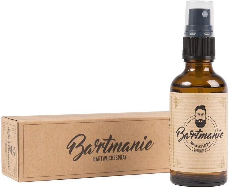Das Bartspray, welches auf dem Foto zu sehen ist, soll das Bartwachstum anregen und den Bart geschmeidiger machen