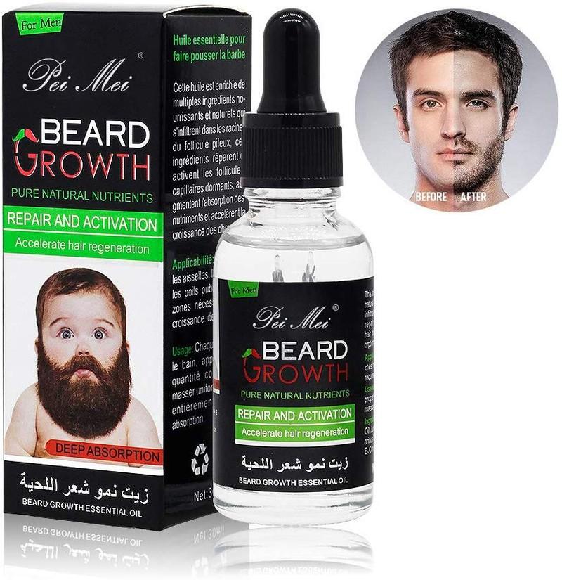 Das Bild zeigt ein Bartöl mit Conditioner, das das Wachstum des Barts anregen soll