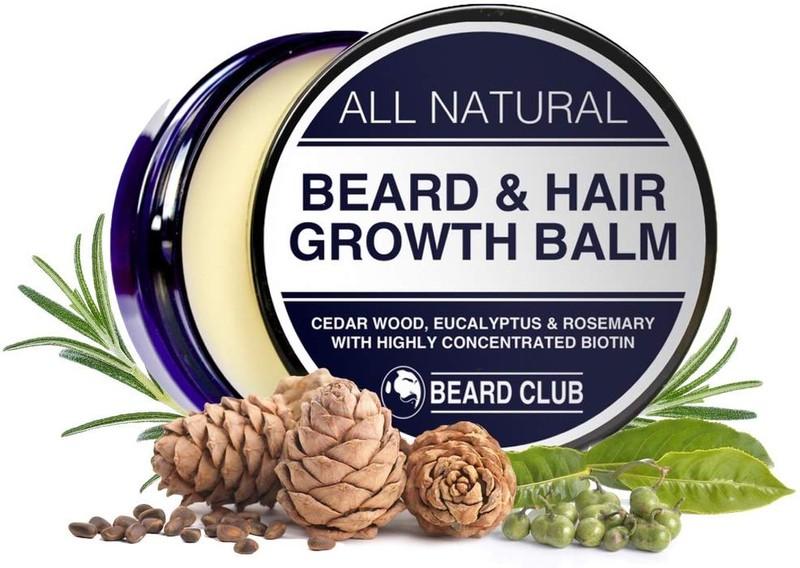 Männer, die keinen Bart haben, könnten das Produkt Bart und Haarwuchs mal ausprobieren