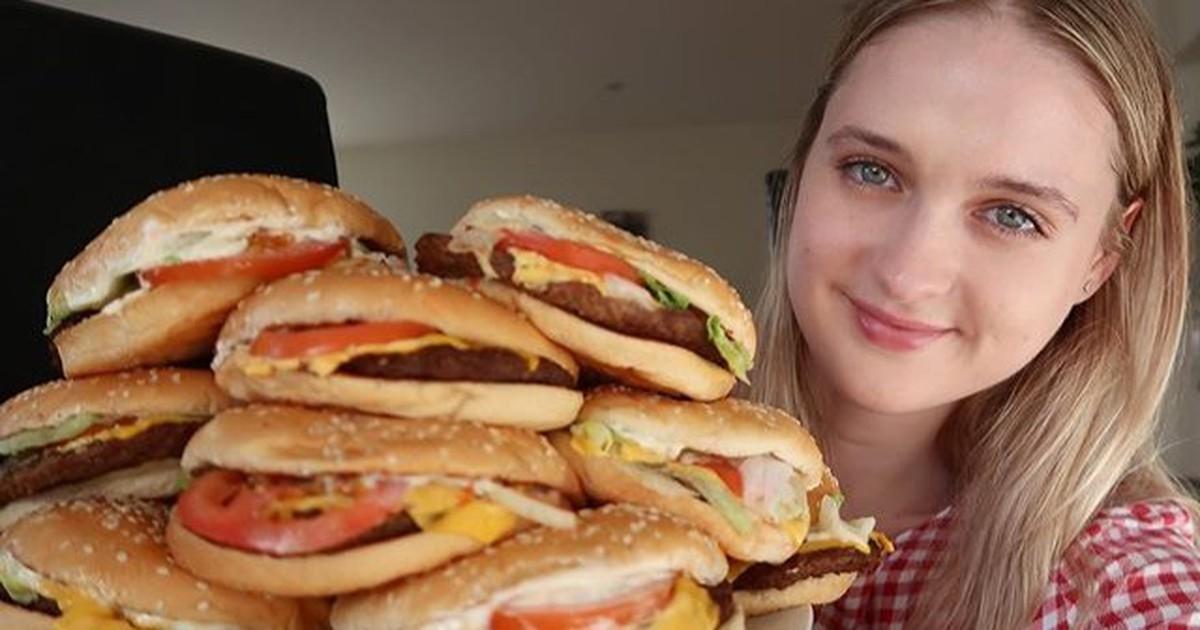 Rekord: Zierliches Model isst 22 BigMacs in einer Stunde