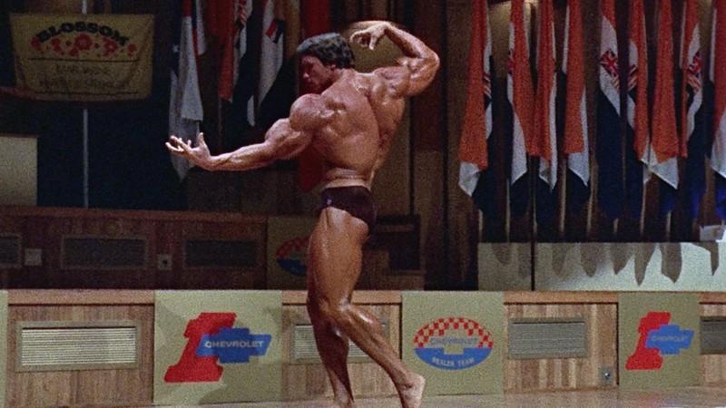 Arnold Schwarzenegger am Anfang seiner Bodybuilder-Karriere.