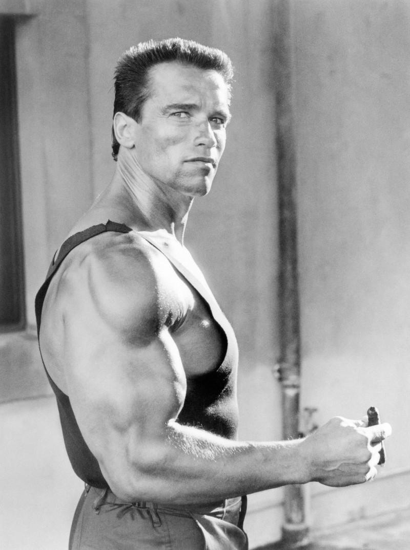 So sah der Schauspieler Schwarzenegger 1985 aus.