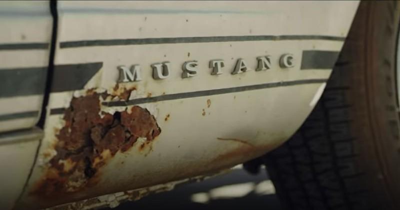 So traurig sah der Mustang von Jasons Frau mittlerweile aus.