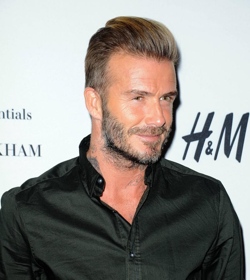 David Beckham mit dem klassischen Old School Look