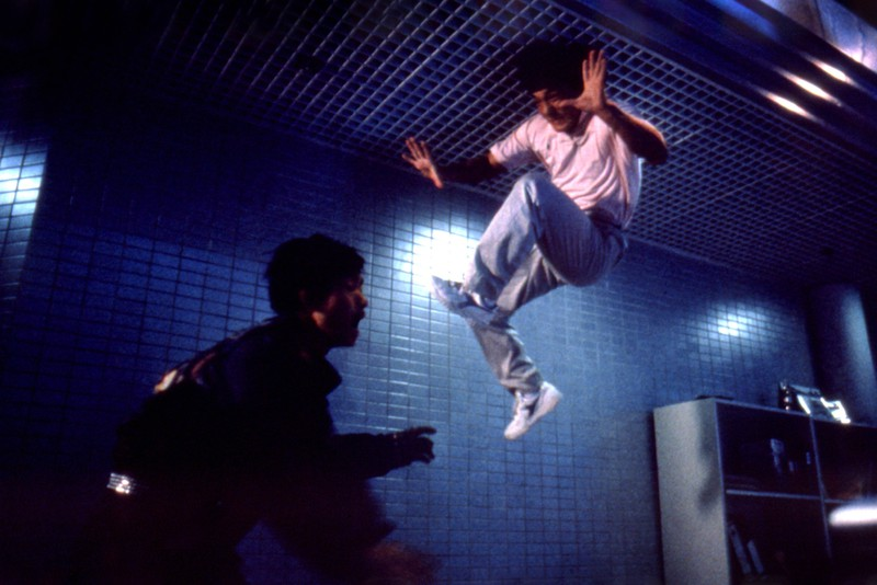Jackie Chan bei einem seiner Stunts