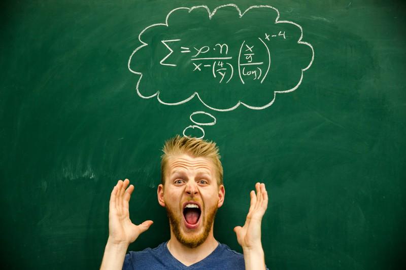 Ein Mann zeigt sich nervös wegen einer Prüfung