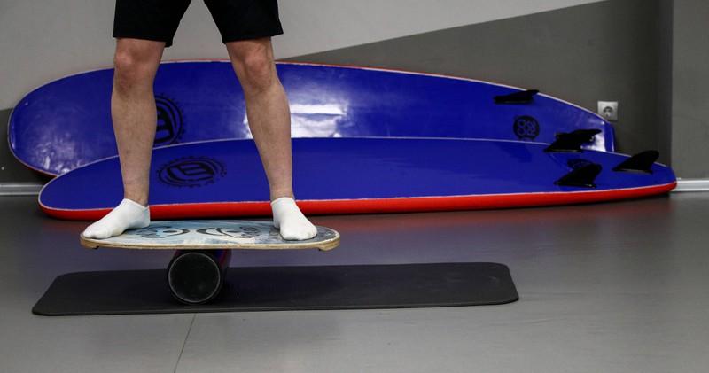 Das Balanceboard ist ebenfalls ein sinnvolles Trainingsutensil