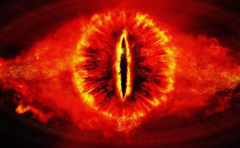 Sauron ist ein Schurke, der die Welt Mittelerde in Finsternis stürzt